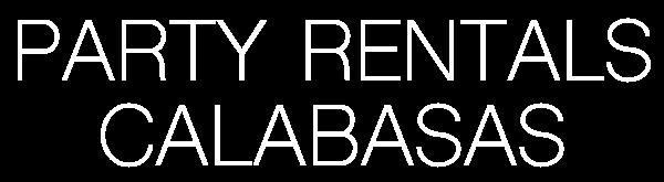 Party Rentals Calabasas
